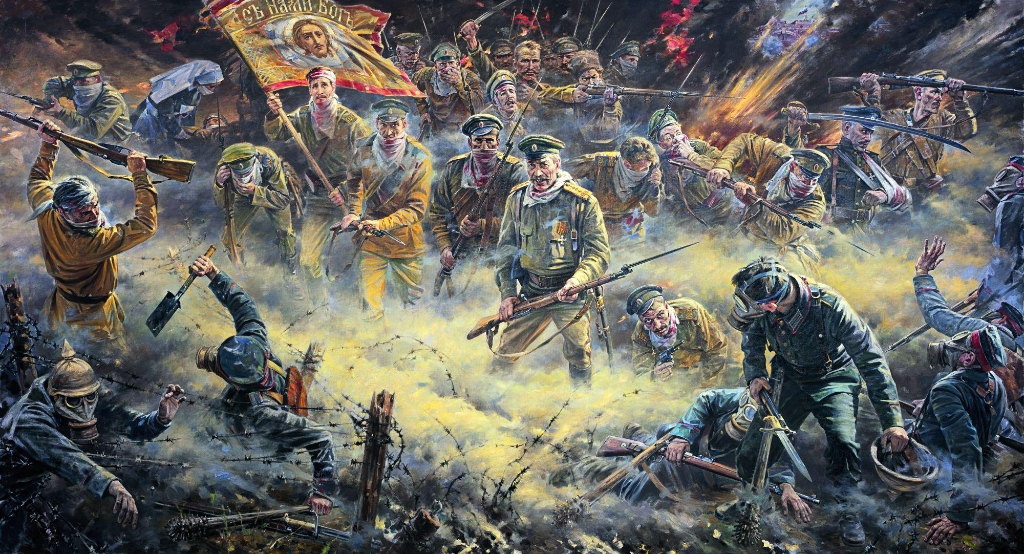 """,,Атака мертвецов""""...Контратака 13-й роты 226-го Землянского полка[ 1] 24 июля (6 августа) 1915 года при отражении немецкой газовой атаки...."""