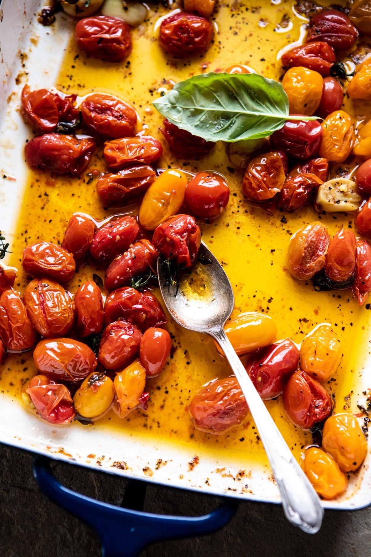 Roasted Caprese Burrata Sliders Half Baked Harvest Recipe Burrata Roasted Cherry Tomatoes Fruit And Veg