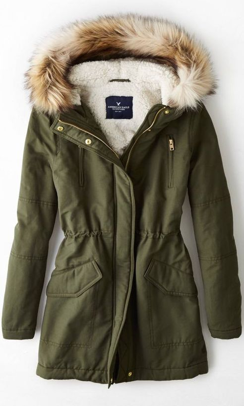Green Hooded Parka | Fashion and Beauty | Pinterest | Clothes ...