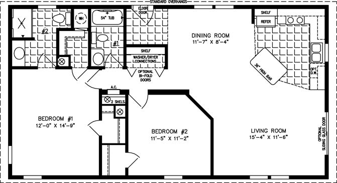 manufactured home floor plan  the imperial limited model imlt