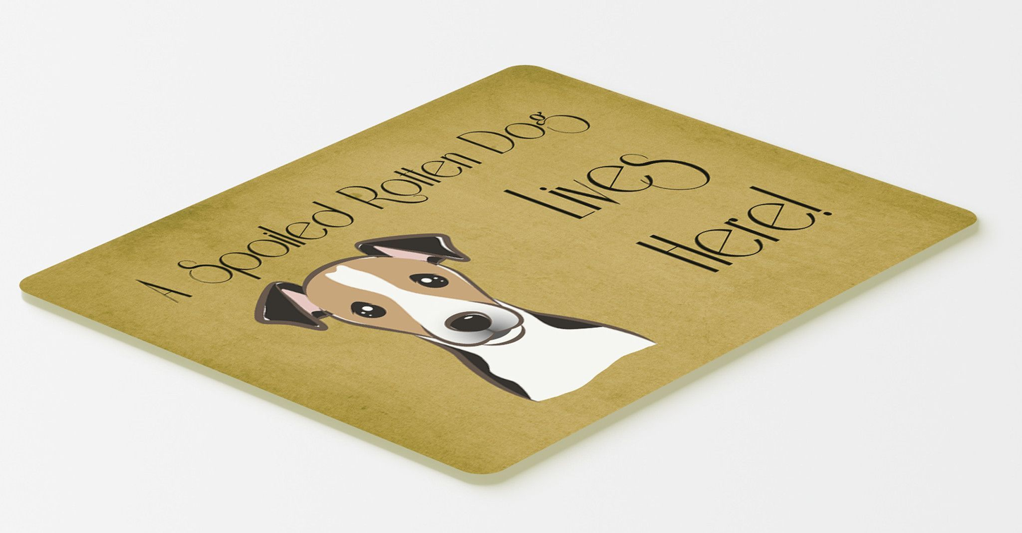 Jack Russell Terrier Spoiled Dog Lives Here Kitchen or Bath Mat 20x30 BB1509CMT