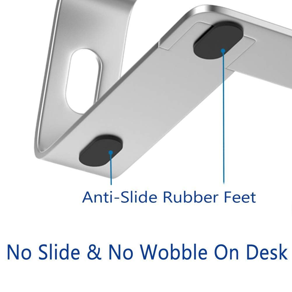Aluminum laptop stand for desk compatible with