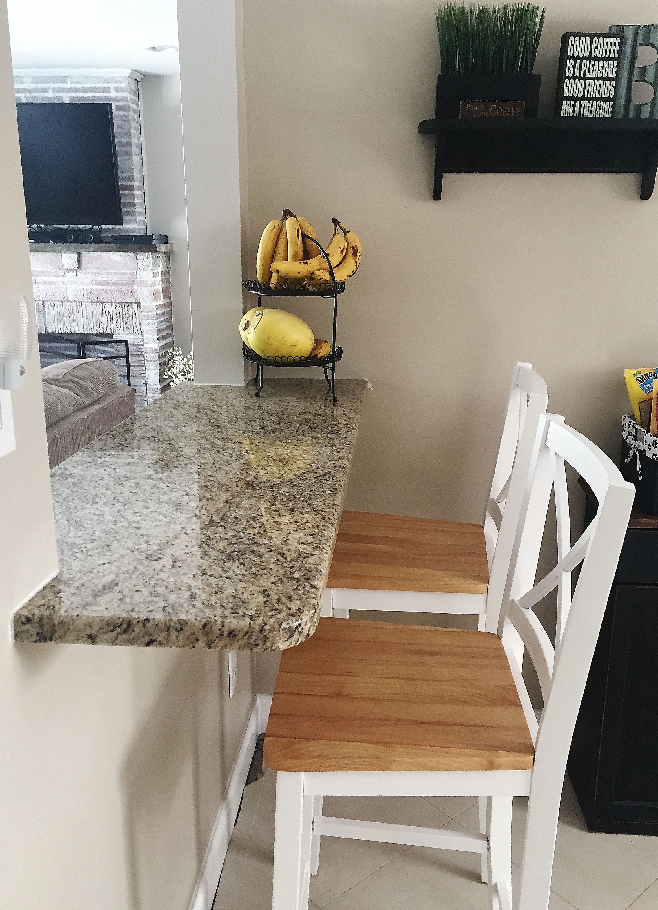 Giallo Ornamental Granite Pass Through Bar Countertop Kitchen By Stoneshop From Cherry Hill