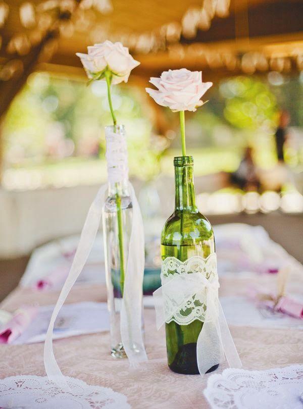 9 centros de mesa para boda econ micos con botellas - Centros de mesa para bodas economicos ...