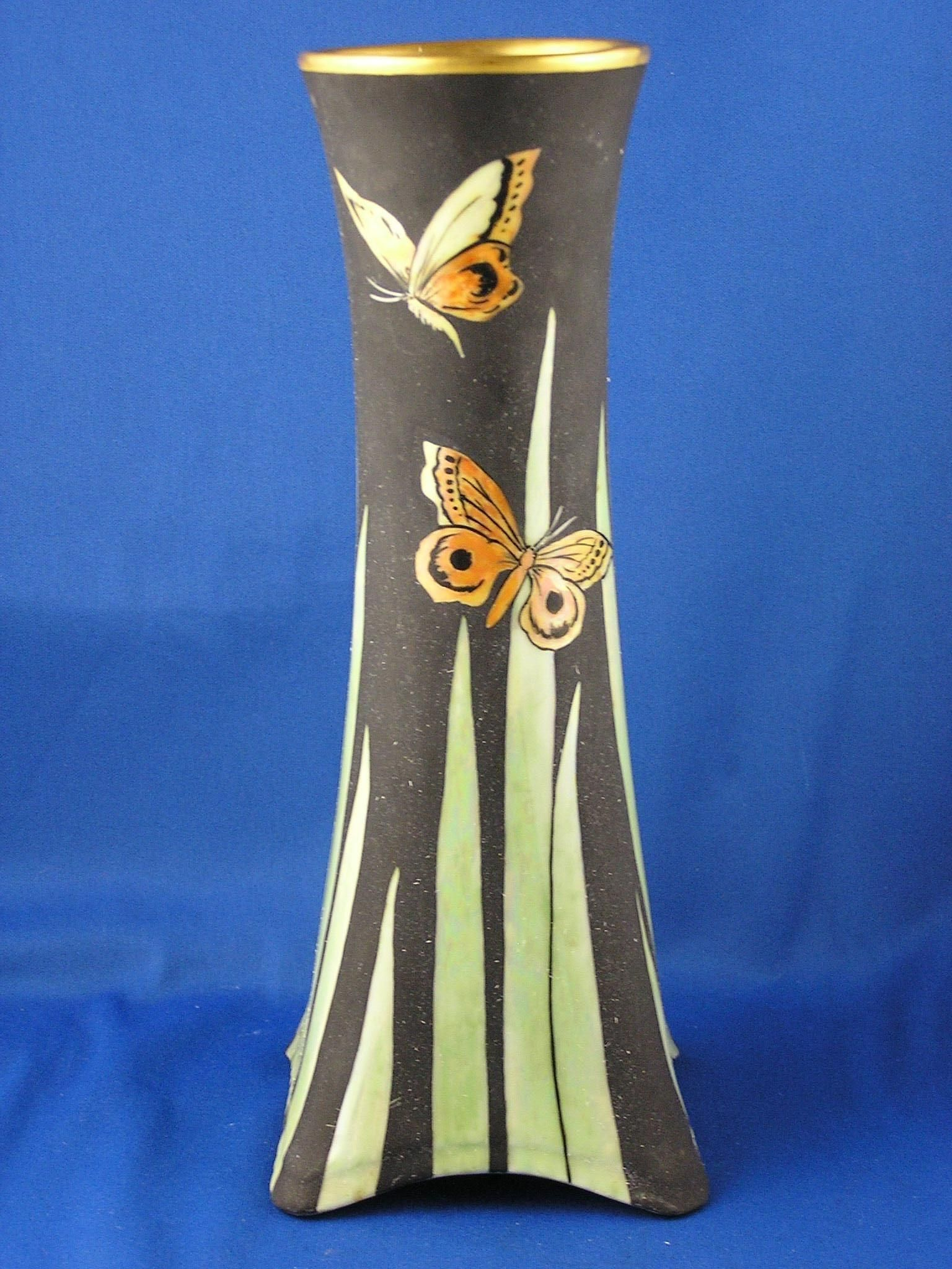 Heinrich co hco bavaria arts crafts lustre butterfly offered for purchase is a beautiful heinrich co bavaria arts crafts lustre butterfly motif vase signed the vase is in reviewsmspy