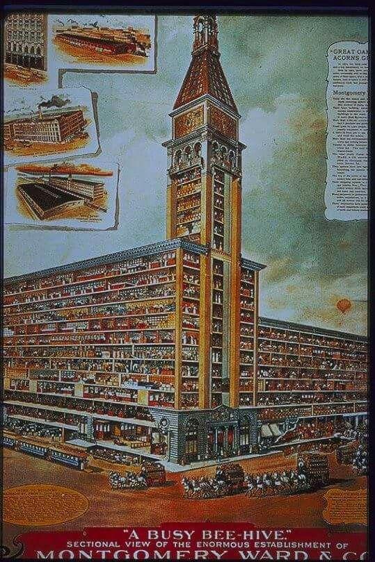 1904 Chicago Montgomery ward warehouse