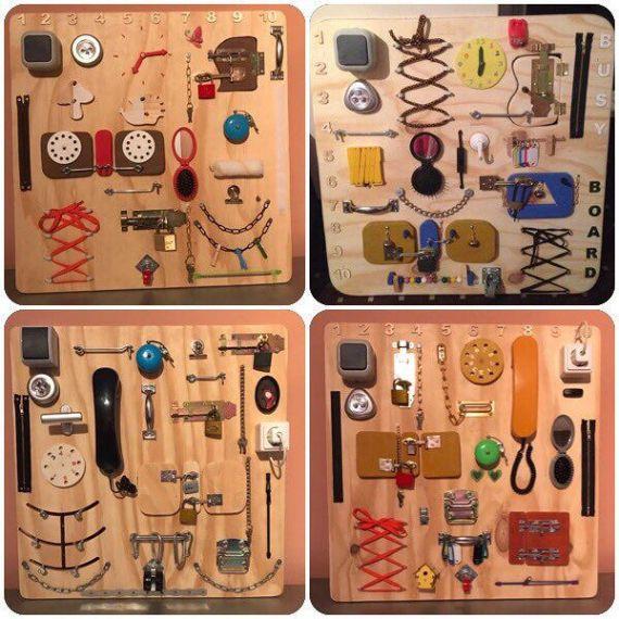 activity board busy board sensory board montessori. Black Bedroom Furniture Sets. Home Design Ideas