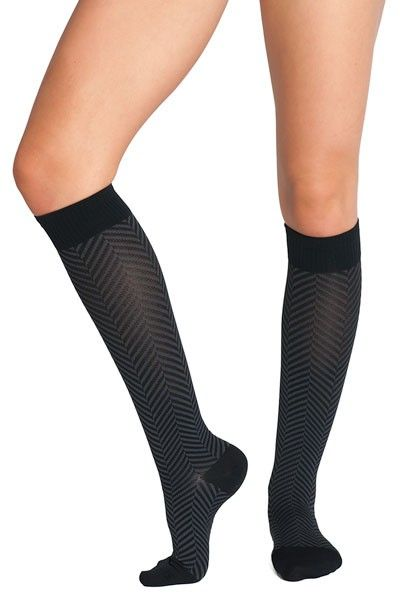 e83b5bc073 Soxxy Socks Herringbone Women's Compression Sock. The seamless toe and  Y-Gore heel make them comfortable to wear. $35