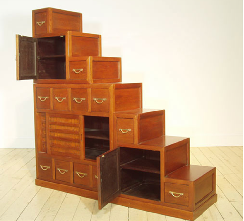 kaidan dansu, step chest, step chests, japanese furniture, traditional  japanese furniture,