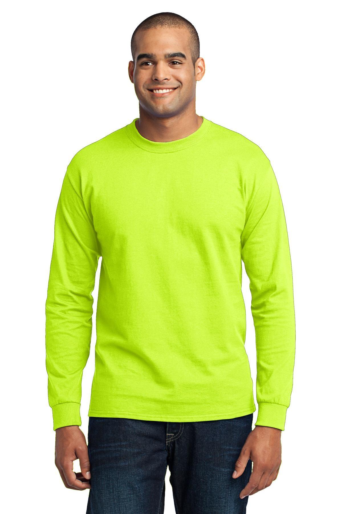 Sanmar Wholesale Imprintable Apparel Accessories American Tees Long Sleeve Tshirt Men Long Sleeve