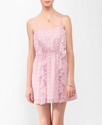 Ruffled Kaleidoscope Print Dress Forever21