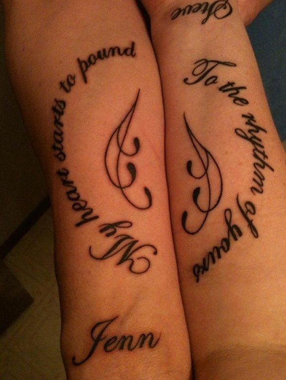 Couple love quotes tattoos