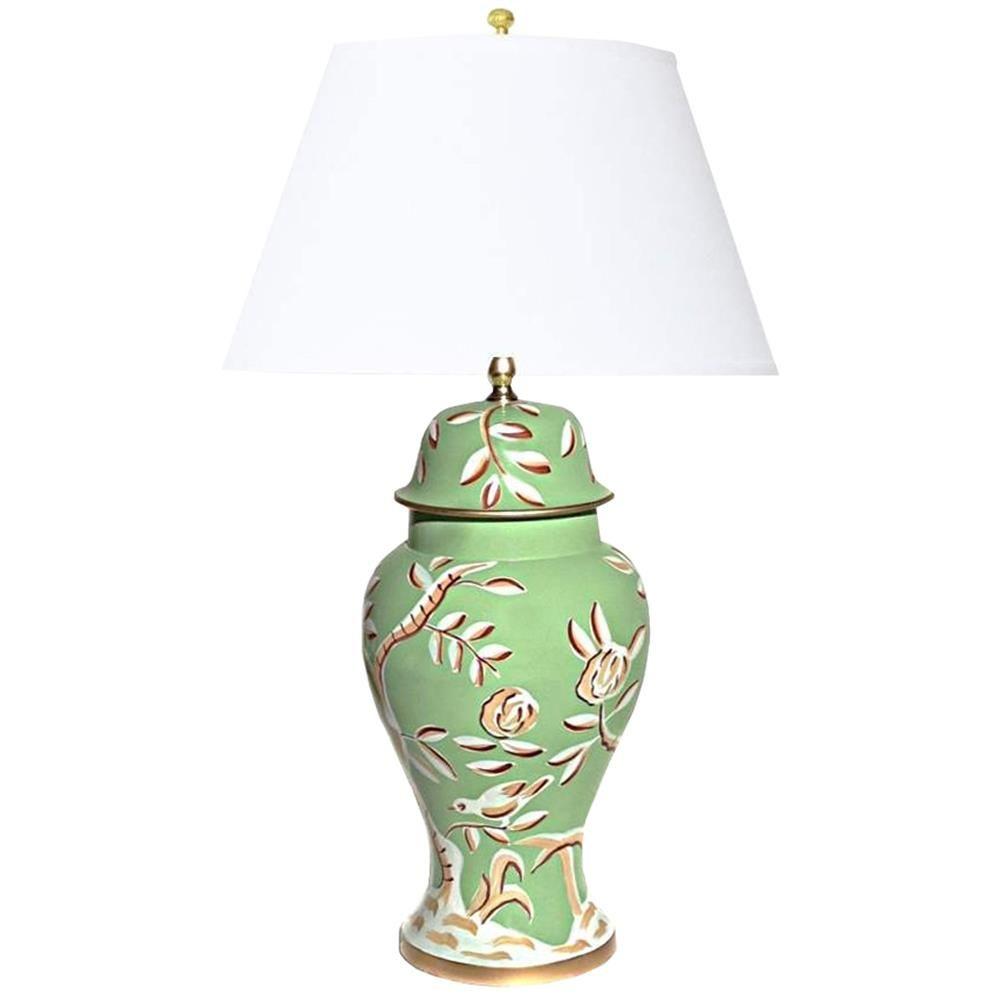 Devonia chinoiserie inspired hand painted green floral table lamp devonia chinoiserie inspired hand painted green floral table lamp arubaitofo Choice Image