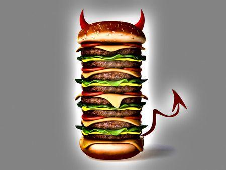 Image result for evil junk food wallpaper