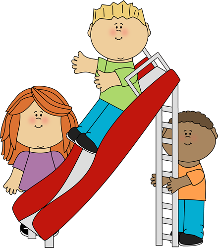 children at play clip art kids playing on a slide clip art image rh pinterest com