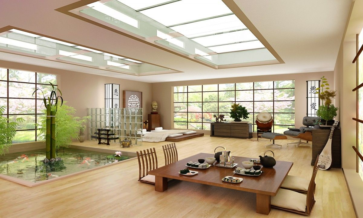 Japanese interior house design floor plan pinterest for Asian interior design