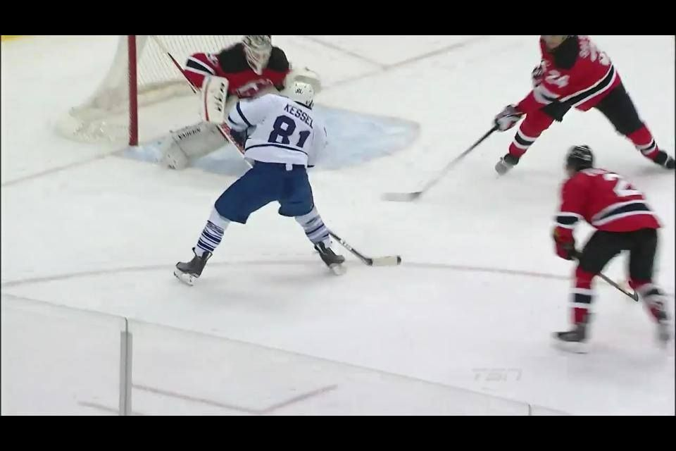 Phil Kessel scores a highlight reel goal and then slams into the net, getting up slowly. Should this be included as one of the 32 plays being considered for Play of the Year? http://www.tsn.ca/VideoHub/?collection=72&show=312207