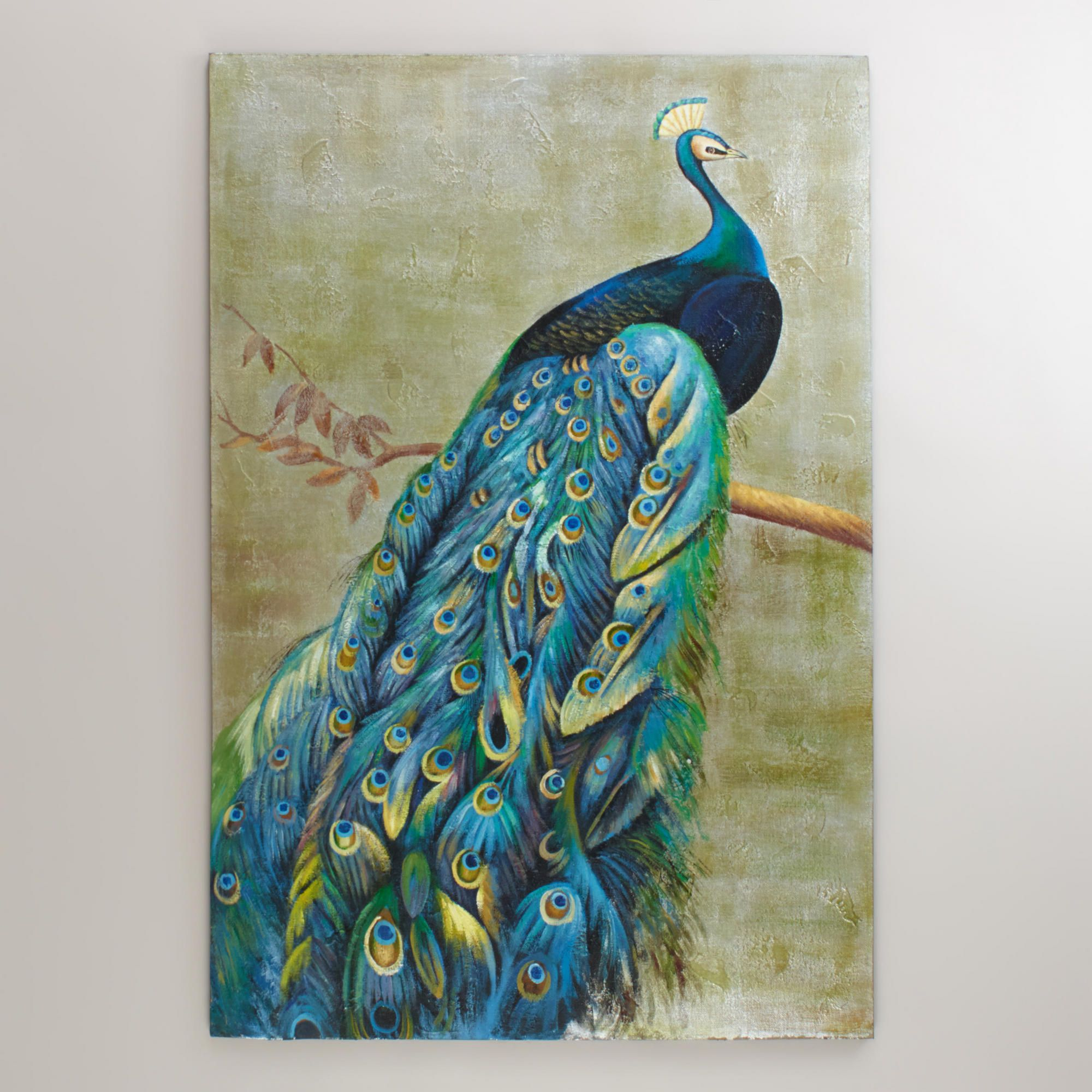 Peacock Living Room Graceful Peacock Painting World Market I Need This Badly For