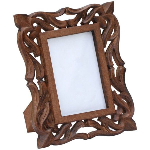 inches brown picture frame in bulk wholesale hand carved vintage look wooden photo frame with lattice work home decor picture frame distributors - Wooden Picture Frames In Bulk