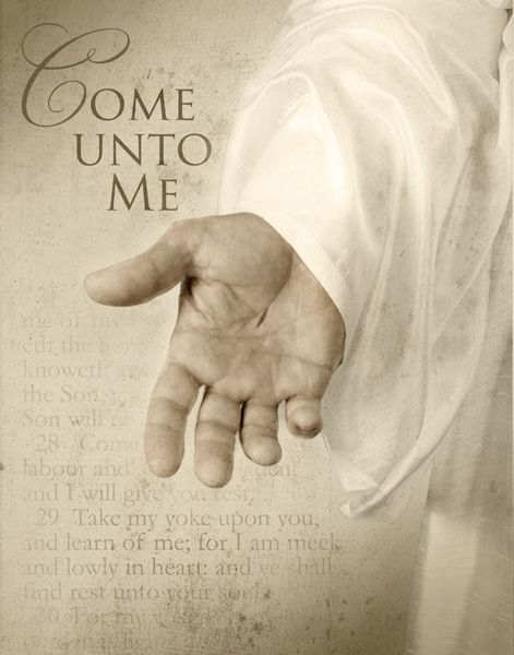 "Is this ever beautiful: ""Come to me, all you who are weary ..."