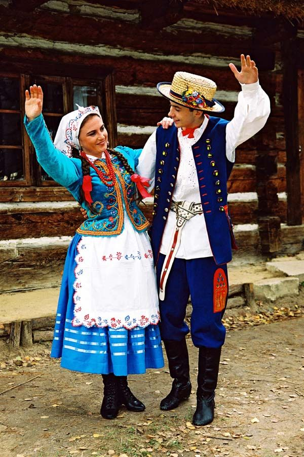 Europe Portrait of a couple wearing traditional clothes