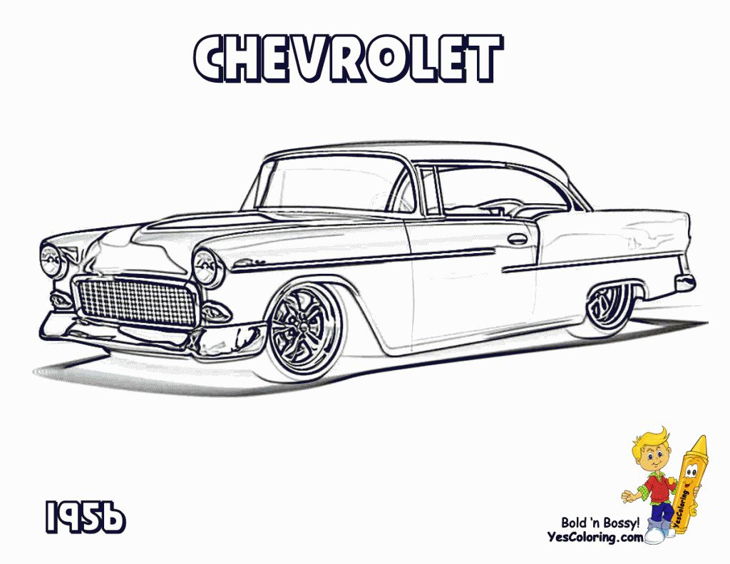 Pin by 56 Heit on 56 chevy | Cars coloring pages