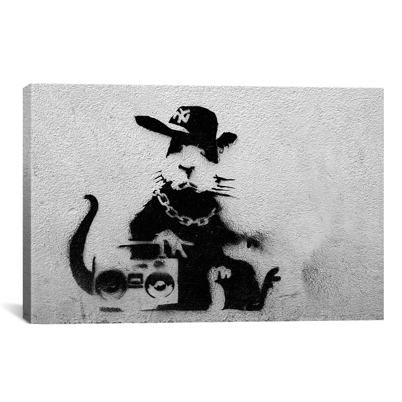 Iart banksy gangster rat print wall art banksy pinterest