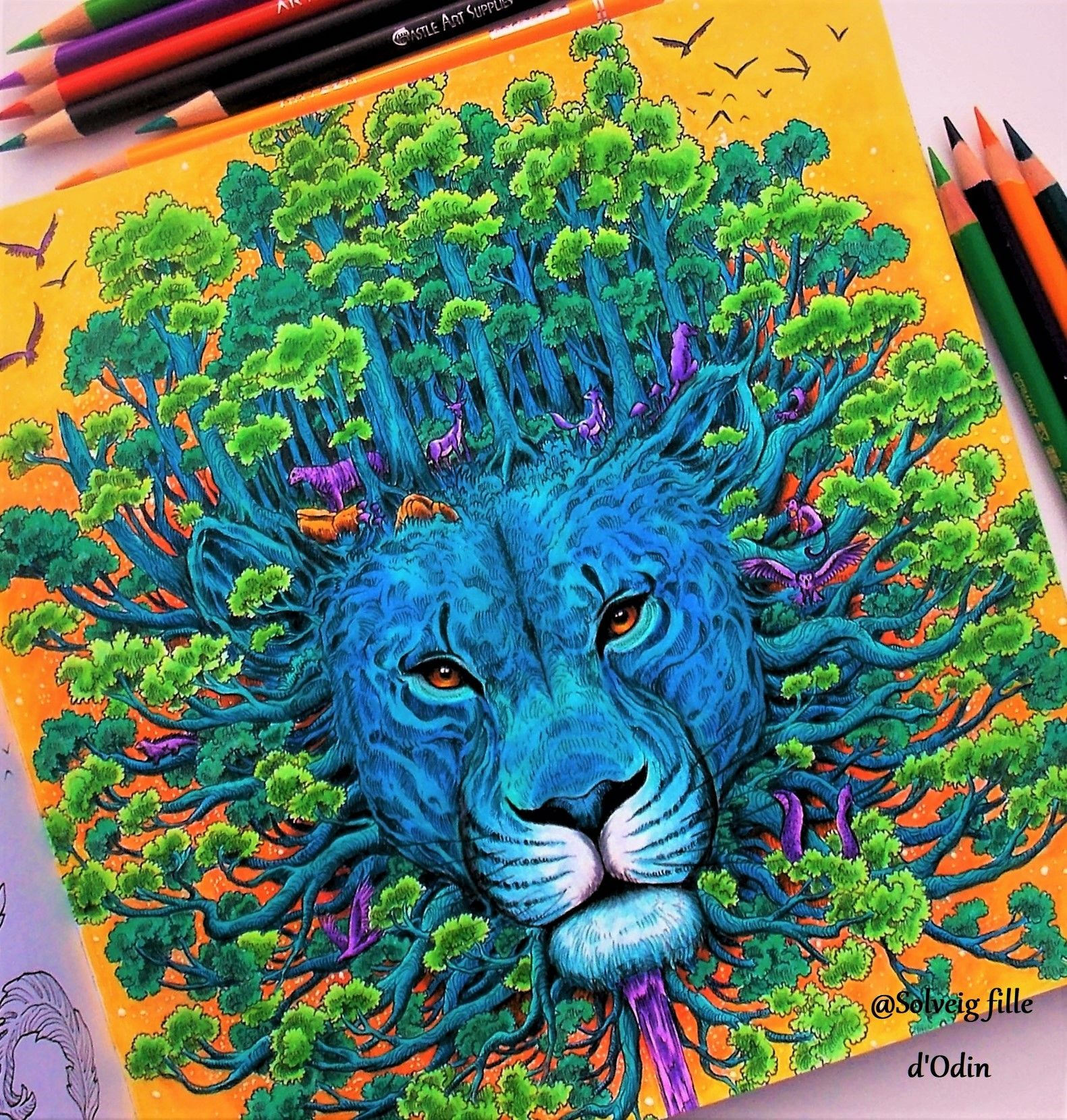 Kerby Rosanes Coloring By Solveig Fille D Odin Worldswithinworlds Kerbyrosanes Kerbyrosaneswo Color Drawing Art Animorphia Coloring Book Animorphia Coloring