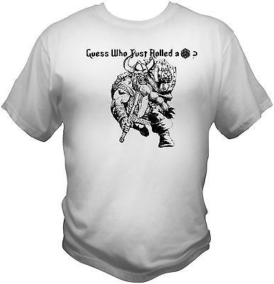 Guess who rolled a 20 t shirt d d role playing dungeons for Ithaca t shirt printing