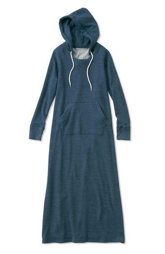 hooded maxi sweatshirt dress