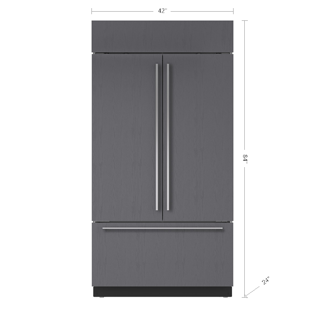 Sub Zero 42 Classic French Door Refrigerator Freezer With Internal Dispenser Panel Ready Bi 42uf In 2020 French Door Refrigerator Refrigerator Freezer French Doors