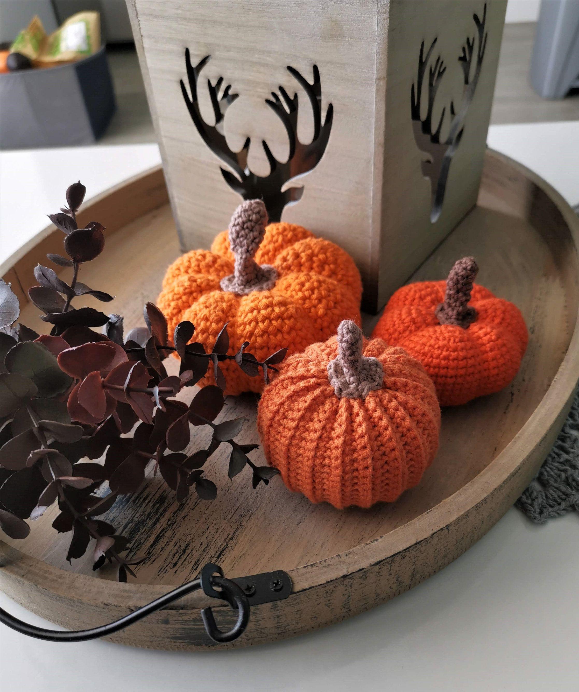 Pumpkin Set Crocheted Housewarming Autumn Halloween Fall Decor,crocheted pumpkins Thanksgiving Pumpkins Fall decor Pumpkin Pumpkin