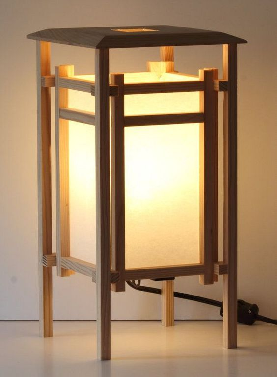 30+ Best Wooden Table Lamp Designs With Japanese Style