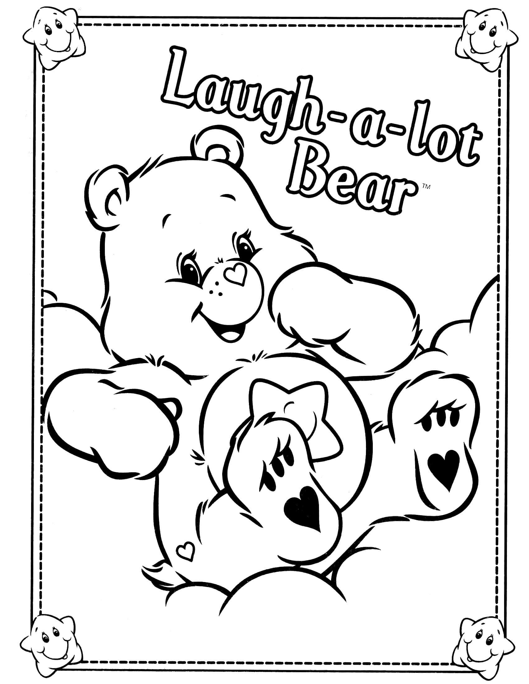 Care Bears Coloring Page Bear Coloring Pages Cartoon Coloring
