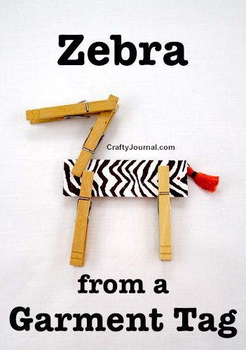 Craft a Fun Zebra From a Garment Tag by Crafty Journal : Featured Post on Turn it up Tuesdays