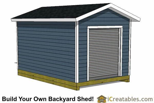 10x16 Shed Plans With Garage Roll Up Door 10x12 Shed Plans Shed Plans Shed Design