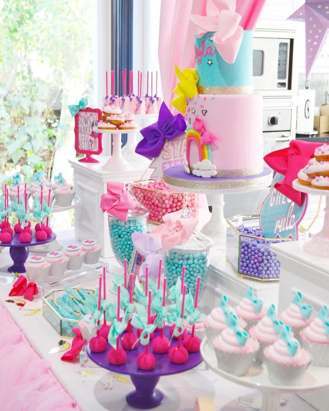 Jojo Siwa Theme Dessert Table Display Kayla S Jojo Siwa Theme Birthday Sofun Itsjojosiwa Jojo Siwa Birthday Jojo Siwa Birthday Cake Dessert Table Birthday