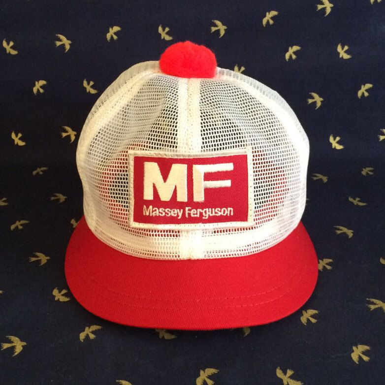 Umpire Style Stubby Brim Massey Ferguson Snap Back Trucker Hat Etsy Trucker Hat Hipster Hat Hats