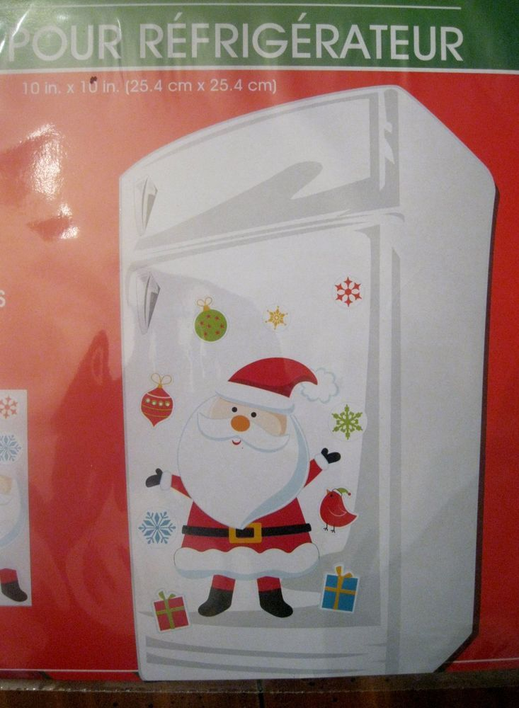 Christmas Refrigerator Holiday Magnets Santa w/Accesories in Home & Garden   eBay