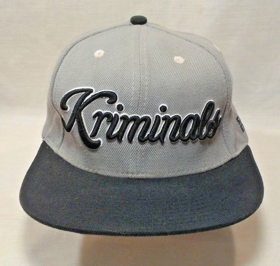 02f3f56f KR3W Kriminals Strapback Baseball Hat Cap Black Gray Zumiez Exclusive #KR3W  #BaseballCap