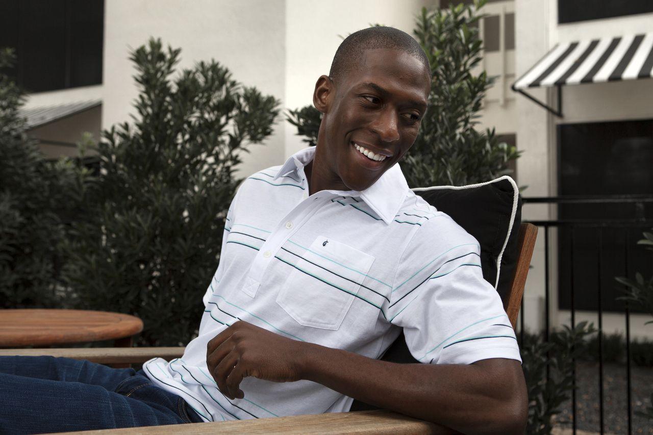 The Players Shirt - White Wide Stripe - 100% Organic Cotton Golf Shirt | Designed in Austin, TX | Criquet Shirts