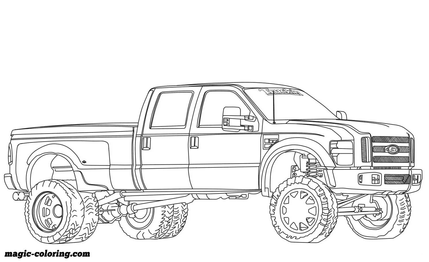 2012 Ford F350 Dually Lifted Coloring Page Truck Coloring Pages Cars Coloring Pages Sports Coloring Pages