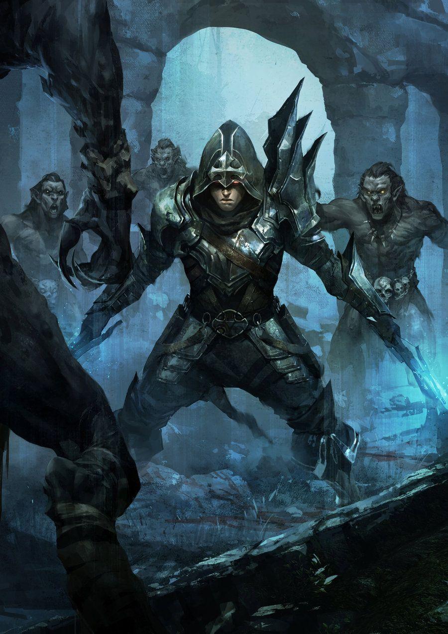 Fantasy Art Fantasy Illustration Art Demon Hunter