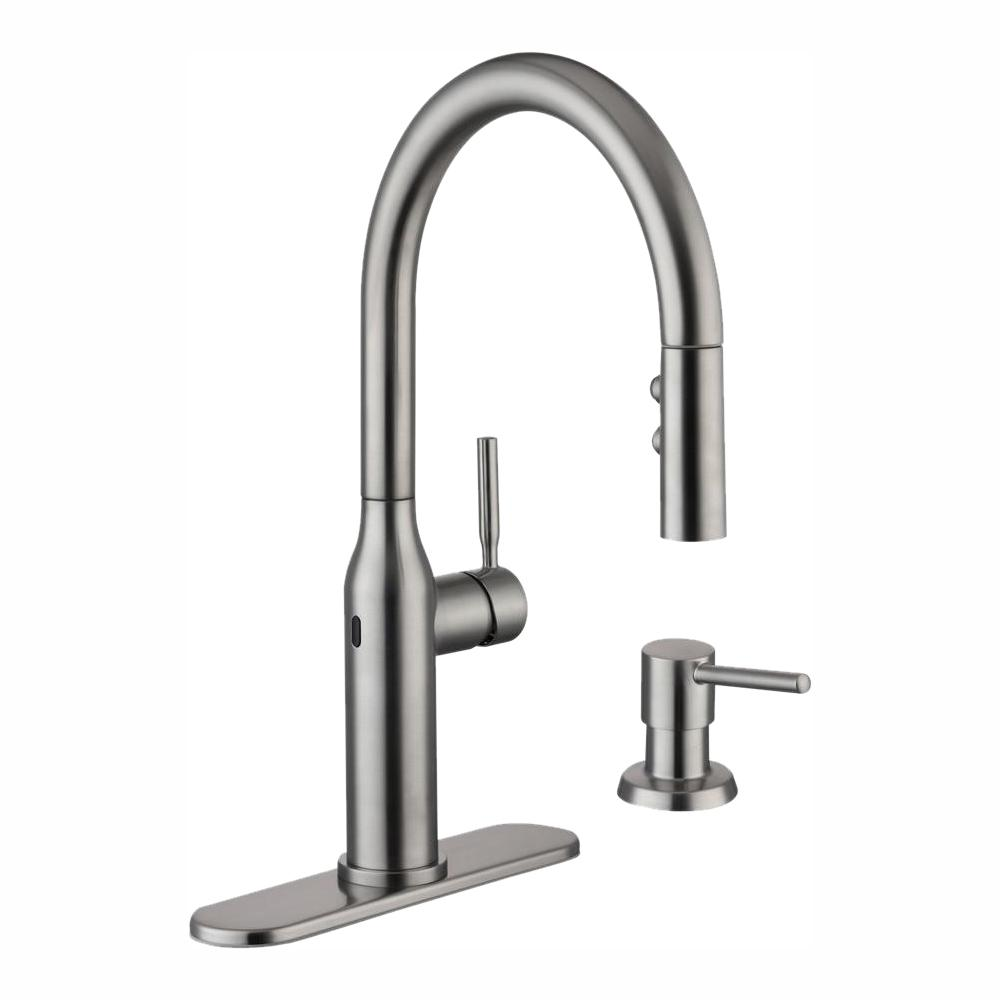 Glacier Bay Upson Single Handle Touchless Pull Down Kitchen Faucet