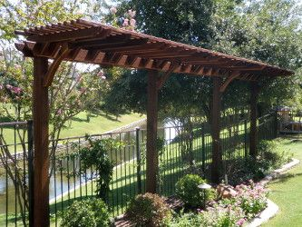 skinny garden pergola will look great in your garden The trellis