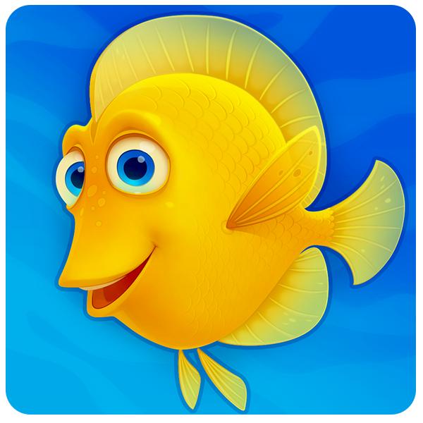 Fishdom Deep Dive on Behance Fishdom, Dove images, Game