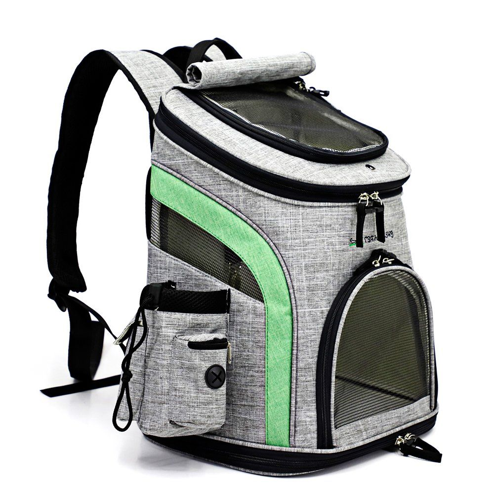 SoftSided Pet Carrier Backpack for Small Dogs and Cats