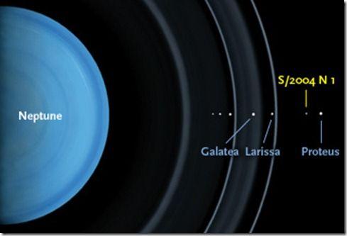 Para detectar la pequeña luna, el astrónomo Mark Showalter y su equipo siguieron el movimiento de un punto blanco que aparece una y otra vez en más de 150 fotografías de archivo de Neptuno, tomadas por el Hubble de 2004 a 2009.