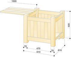 Blumenkubel Selber Bauen Pflanzkubel Kubel Und Balkon Holz