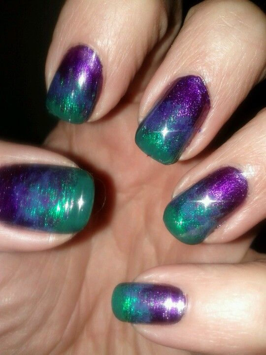 Ombre Nails Purple Green Green Nail Designs Ombre Nails Green Nails